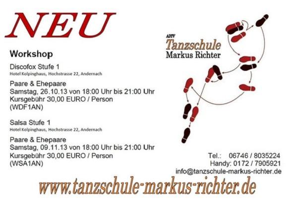 Tanzschule Markus Richter im Kolpinghaus Andernach 2013